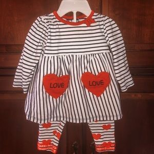 3-6 Months Valentines Day Outfit